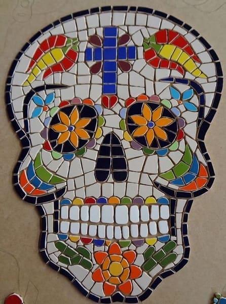 11. Mosaico em caveira mexicana (foto: Pinterest)