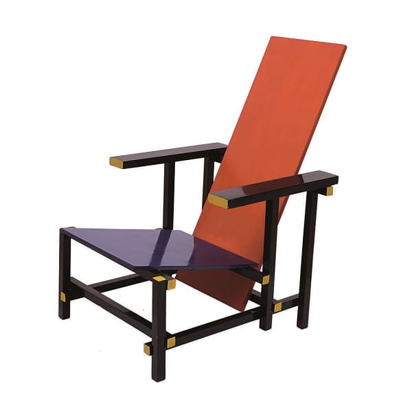 Neoplasticismo: cadeira Red and Blue, de Gerrit Rietveld
