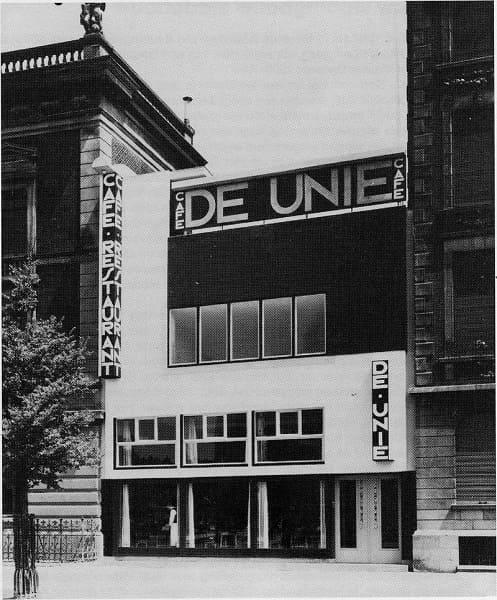 Neoplasticismo: café Unie, obra de J.J.P. Oud (foto: wikipédia)