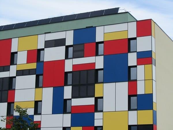 Neoplasticismo: fachada inspirada nas obras de Mondriam 2
