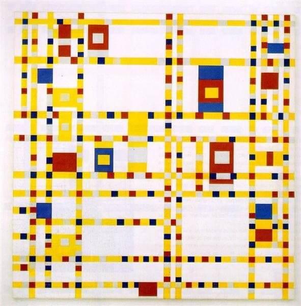 Neoplasticismo: obra Broadway Boogie Woogie, Piet Mondrian, 1943