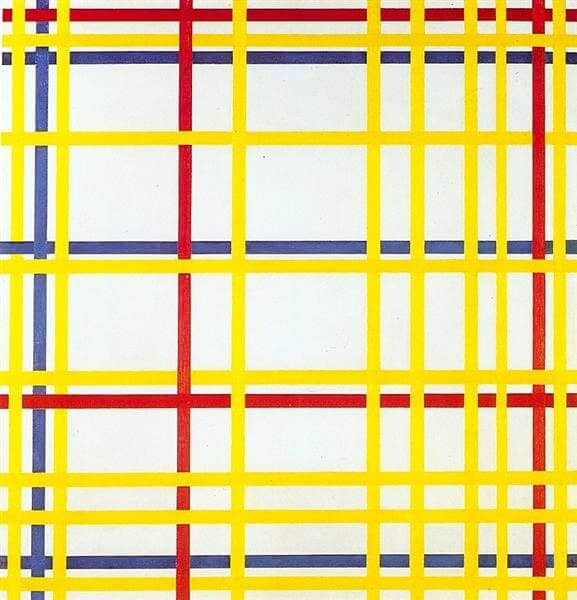 Neoplasticismo: quadro New York City I, Piet Mondrian - 1942