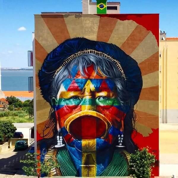 Kobra grafite: Cacique Raoni - Portugal