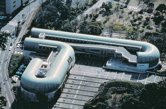 Arata Isozaki: Biblioteca Central Kitakyushu, Fukuoka (foto: Pinterest)