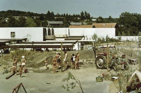 Coliving Sættedammen nos anos 70 (foto: Sættedammen.dk)