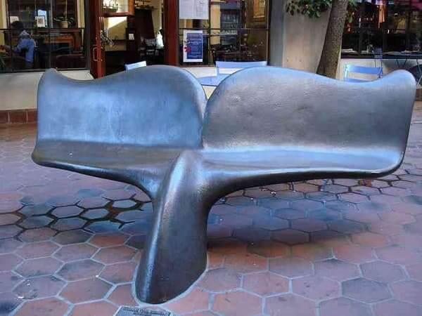 Mobiliário Urbano: Banco cauda de baleia (foto: Mundo Gump)