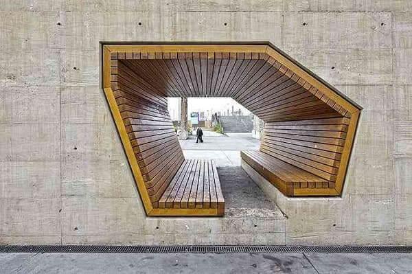 Mobiliário Urbano: Banco criado por Alleswirdgut Architektur, Luxemburgo (foto: Mundo Gump)