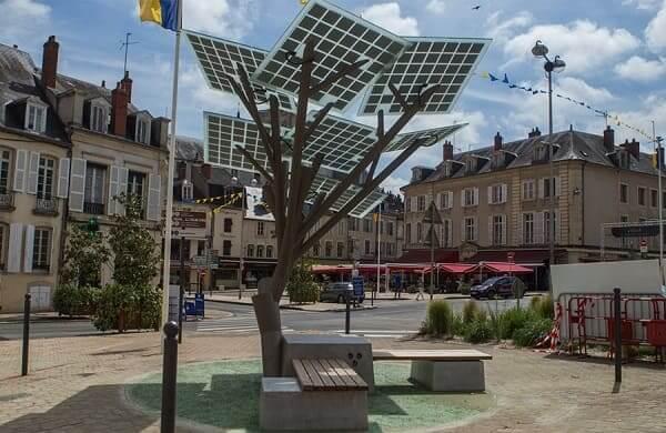 Mobiliário Urbano: E-Tree (foto: Jcdecaux)