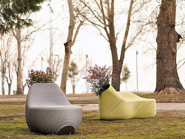 Mobiliário Urbano de material reciclável (foto: Outdoor Design Source)