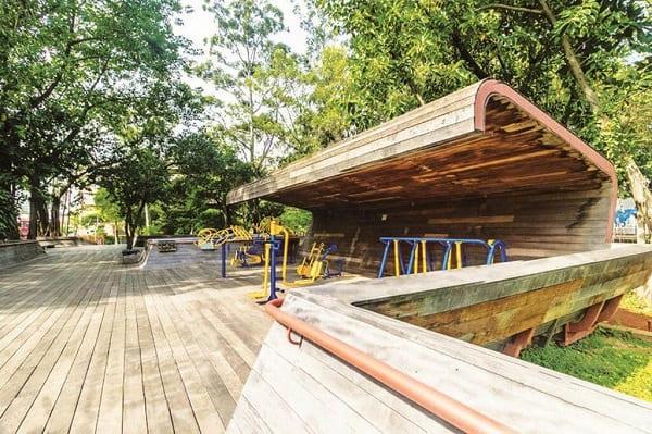 Mobiliário Urbano no parque Victor Civita (foto: Gazeta de Pinheiros)