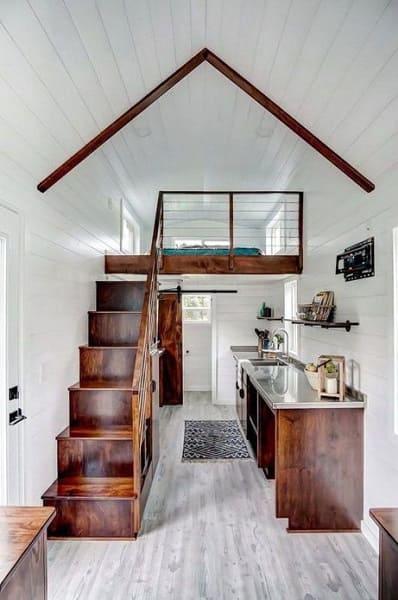 Tiny House: ambiente claro traz sensação de amplitude (foto: homepiez)