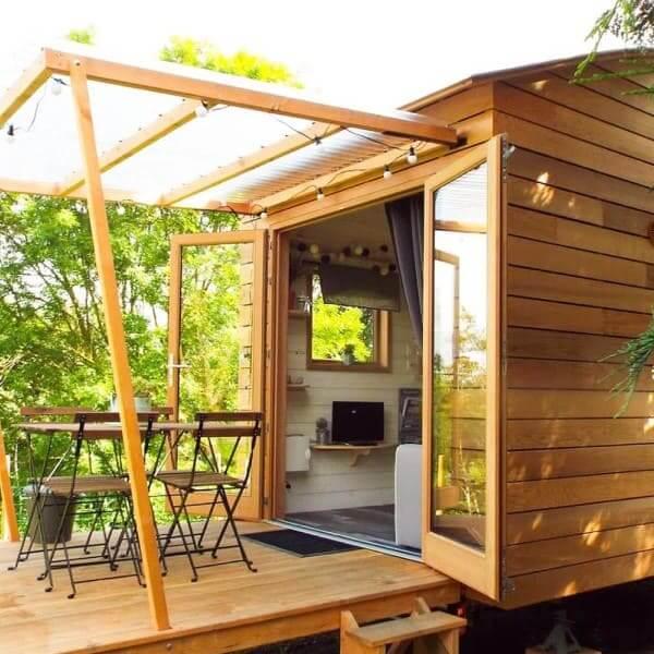 Tiny House com área externa (foto: Abreu.Digital)