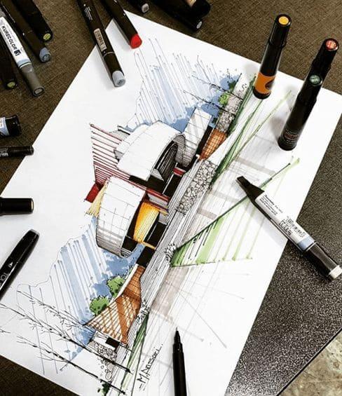 Curso de Arquitetura Online Grátis com Certificado: Play na Criatividade - Desenho Arquitetônico (foto: Pinterest)
