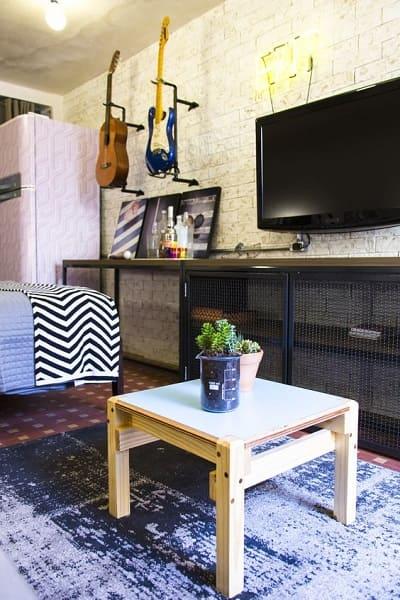 Marcelo Rosenbaum: Decoração Industrial em sala de estar no programa Decora