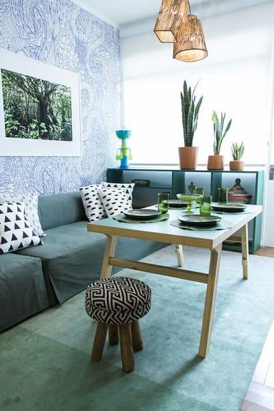 Marcelo Rosenbaum: Sala de Estar inspirada em floresta (foto: Pinterest)