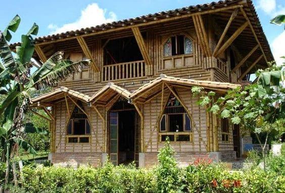 Materiais biodegradáveis: Casa de Praia de Bambu (foto: Pinterest)