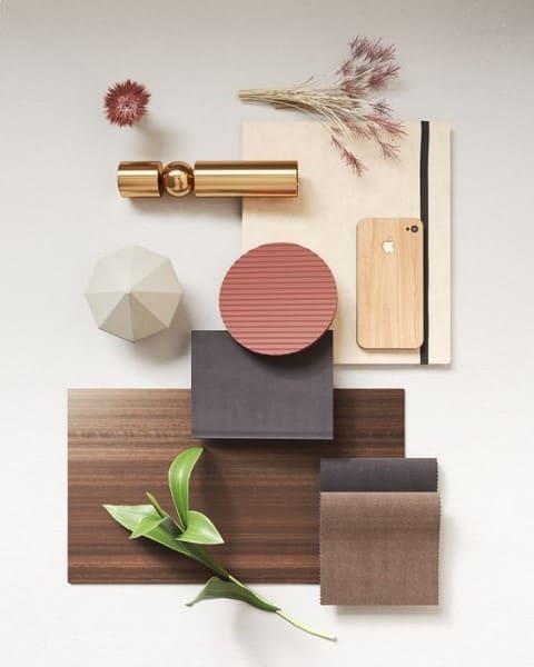 Moodboard: madeira e rose gold (foto: Pinterest)