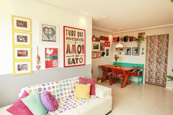 5. Quadro de parede para sala divertido (projeto: Casa Aberta)