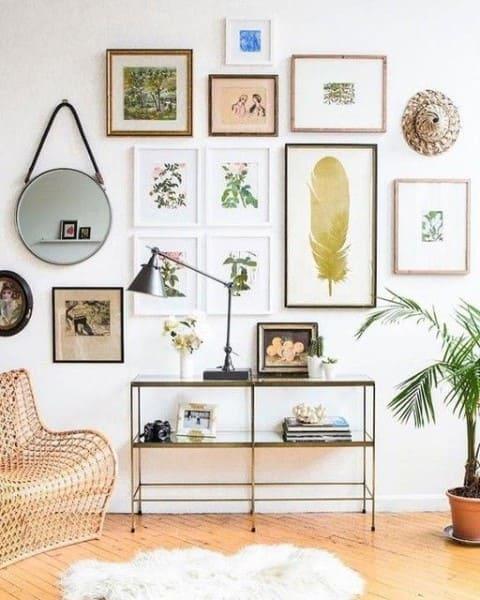 1. Quadro de parede para sala que remete à natureza (foto: Pinterest)