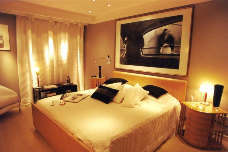 Tipos de iluminação: iluminação de quarto com luz quente (foto: Hunter Trade Iluminação)
