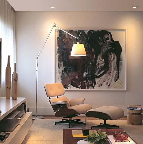Tipos de luz para ambientes: iluminação direta (foto: Modernidade Móveis)