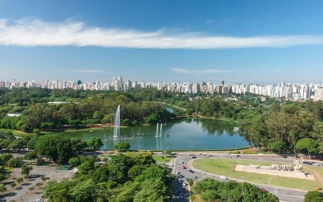 Causas ilhas de calor: Parque do Ibirapuera (foto: IG)