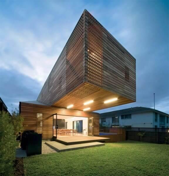 Vigas cantilever: casa com arquitetura moderna (projeto: Jackson Clemens Burrows Pty)
