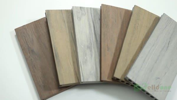 Desvantagens da madeira plástica: cores (foto: Alibaba)