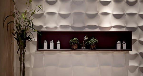 Placa cimentícia decorativa com nicho (foto: tua casa)
