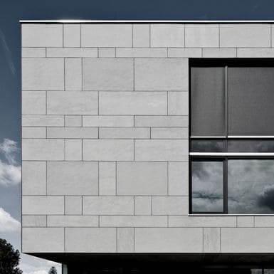 Placa cimentícia na fachada (foto: Pinterest)