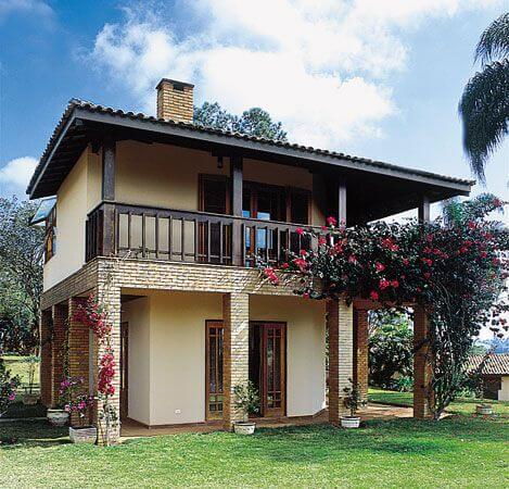 Tipos de Casas: Casa de Alvenaria (foto: Revista Viva Decora)