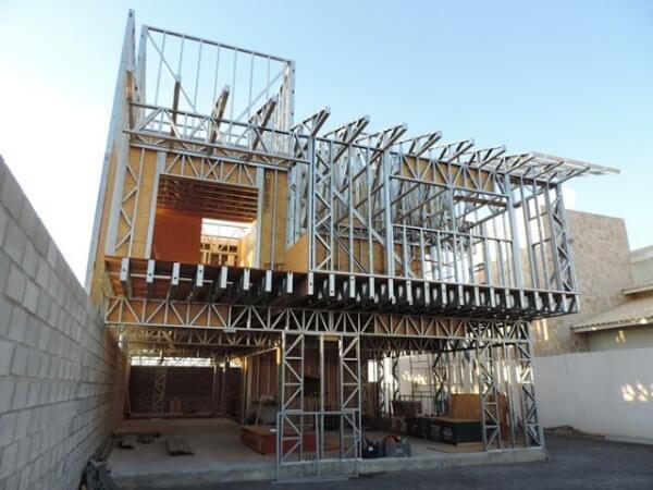 Tipos de casas: Light Steel Frame é exemplo de sistema construtivo pré-fabricado (foto: Pinterest)