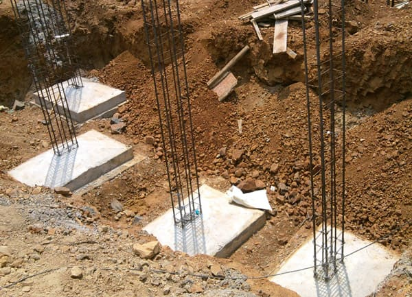 Tipos de fundação para casas: sapata (foto: Escola Engenharia)