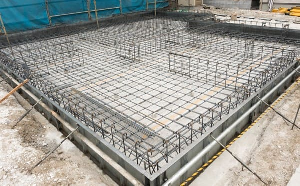 Tipos de fundação: radier de concreto armado (foto: Mapa da Obra)