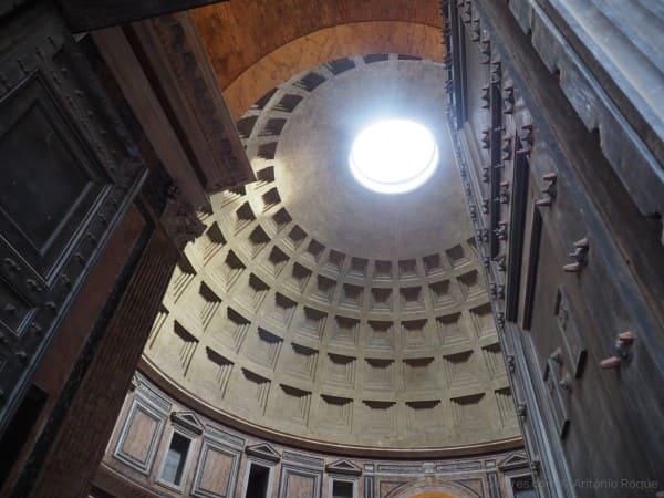Abóbada do Panteão de Roma (foto Olhares)