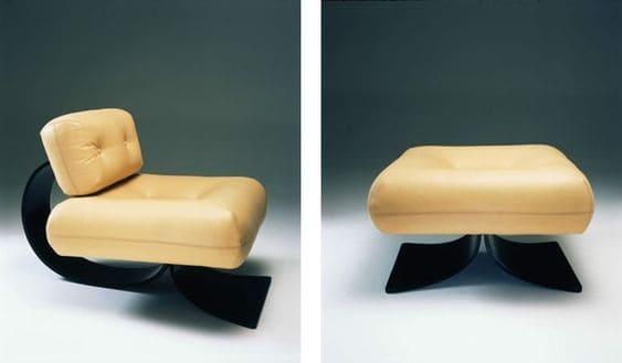 Poltrona de Design Brasileiro: Poltrona Poltrona e Banco Easy Oscar Niemeyer (foto: Pinterest)