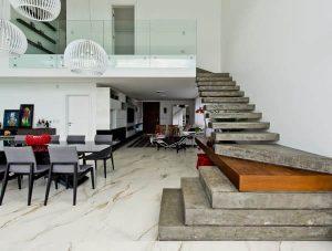 Escada Pré-Moldada de concreto projeto Espaço do Traço Arquitetura