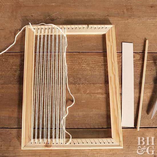 Como fazer tapeçaria: movimento de ir e voltar no tear (foto: Pinterest)