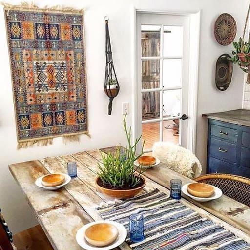Tapeçaria em sala de jantar (foto: Kika Junqueira)