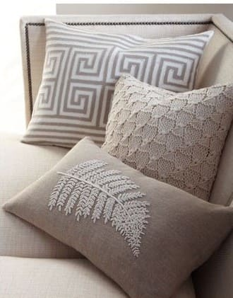 Tipos de tapeçaria: tapeçaria em almofada (foto: Pinterest)