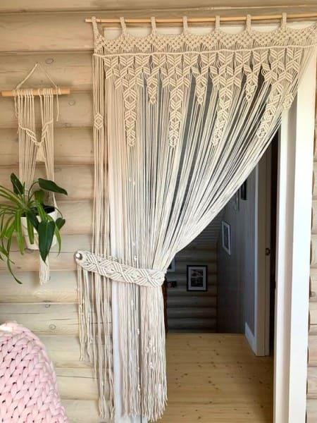 Tipos de tapeçaria: tapeçaria em cortinas (foto: Pinterest)