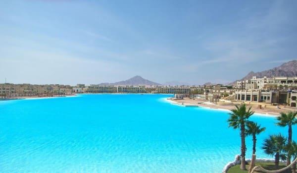 Maior piscina do mundo menção honrosa: Citystars Sharm El Sheikh fica no meio do deserto do Sinai