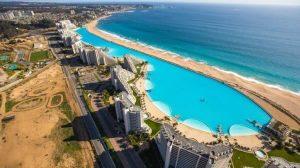 maior piscina do mundo vista área foto Dinheiro Vivo