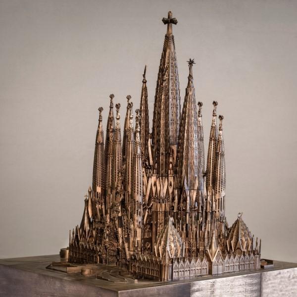 Instituto Tomie Ohtake: maquete da Sagrada Família na exposição Gaudí no Instituto Tomie Ohtake (Foto: UOL)