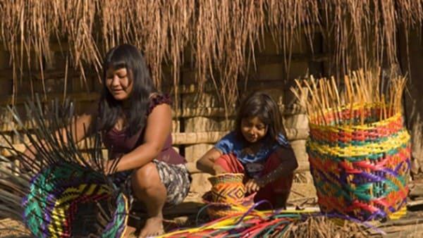 Artesanato Brasileiro: aldeia guarani em São Roque produzindo cestas (foto: Jornal Cruzeiro do Sul)