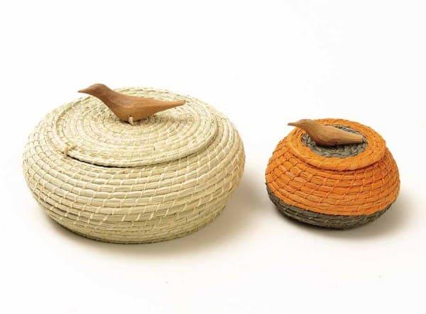 Artesanato Brasileiro: cestaria feita com palha de ouricuri criada pela Associação dos Artesãos de Santa Brígida (foto: Artesol)