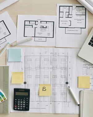 O notebook é um dos materiais dos cursos de Arquitetura