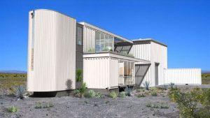 Projeto de arquitetura modular feita com containers