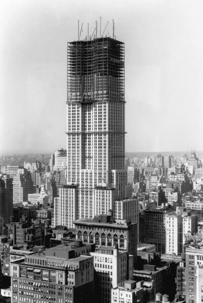 Empire State Building: edifício em construção (foto: Magnus Mundi)