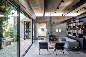 Casa projetada em bloco de concreto aparente. Fonte Inova Concreto